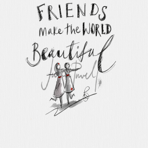 Caught On Sketch - Friends make the world beautiful.