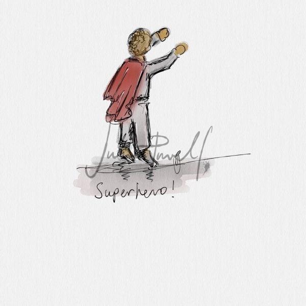 Caught On Sketch Superhero