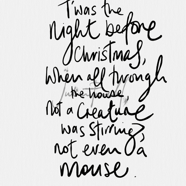 Caught On Sketch Poster Quotes – Night Before Christmas