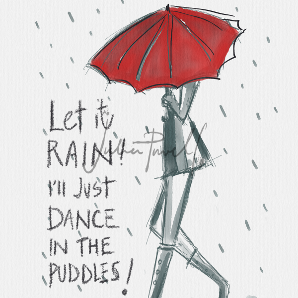 Dance in the puddles card