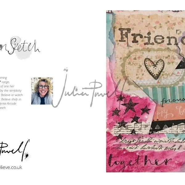 Coffee Art Greeting card: Friends
