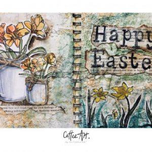 Coffee Art Happy Easter