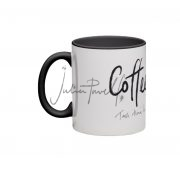 black coffee art mug